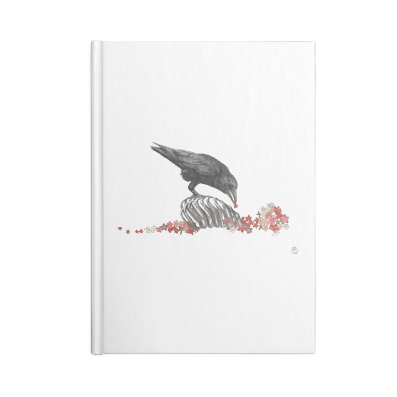 The Bloodflower Crossroads Accessories Blank Journal Notebook by Stephanie Inagaki