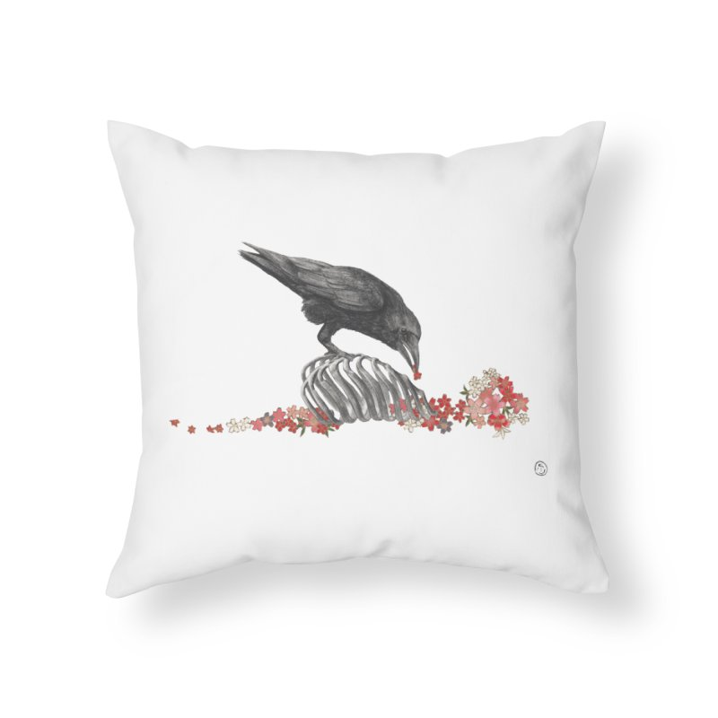 The Bloodflower Crossroads Home Throw Pillow by Stephanie Inagaki