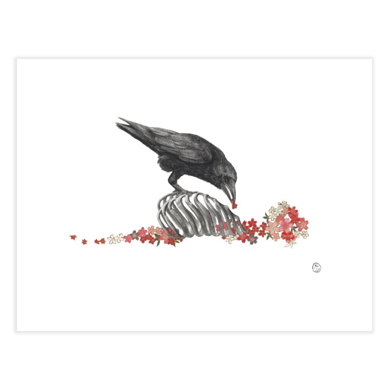 The Bloodflower Crossroads Home Fine Art Print by Stephanie Inagaki