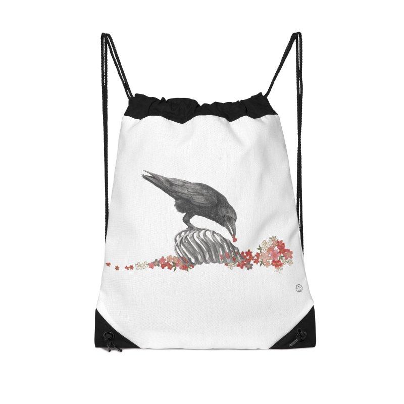 The Bloodflower Crossroads Accessories Drawstring Bag Bag by Stephanie Inagaki