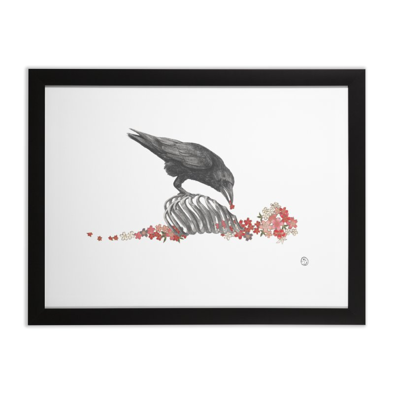 The Bloodflower Crossroads Home Framed Fine Art Print by Stephanie Inagaki