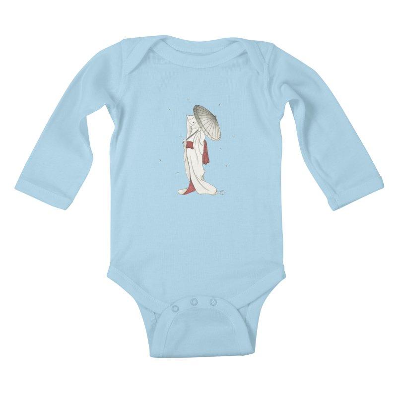 Yuki Hime  Kids Baby Longsleeve Bodysuit by stephanieinagaki's Artist Shop