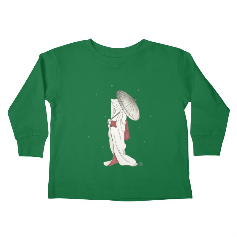 Yuki Hime  Kids Toddler Longsleeve T-Shirt by Stephanie Inagaki