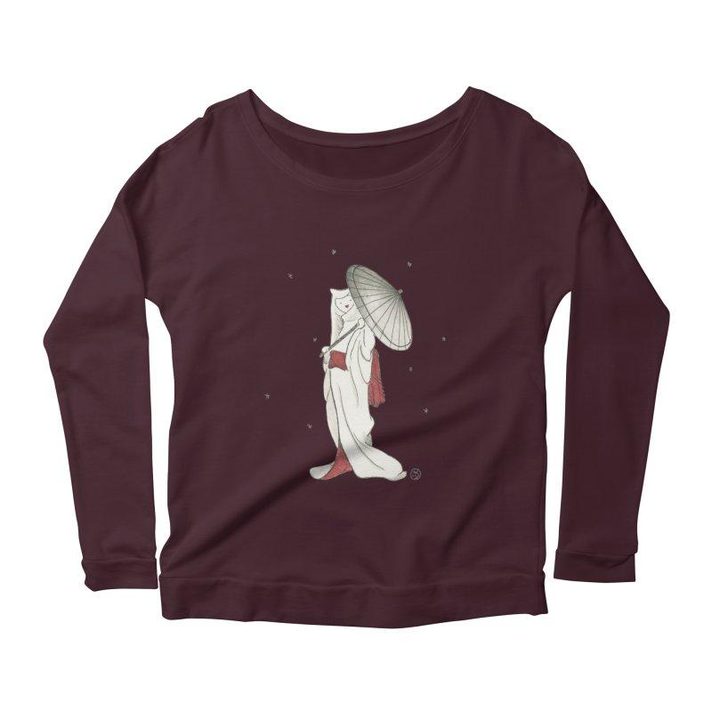 Yuki Hime  Women's Scoop Neck Longsleeve T-Shirt by Stephanie Inagaki