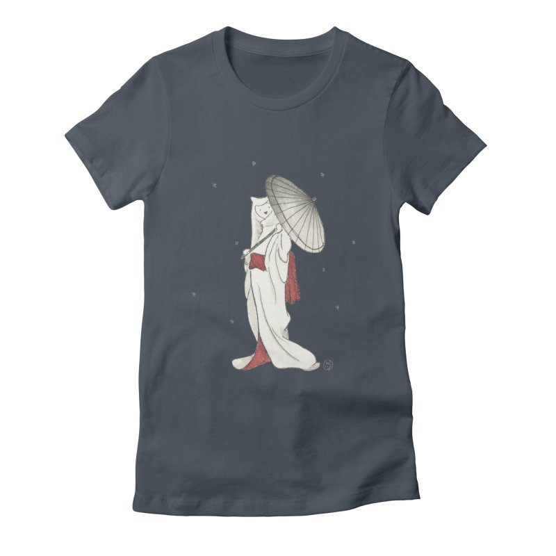 Yuki Hime  Women's Fitted T-Shirt by Stephanie Inagaki
