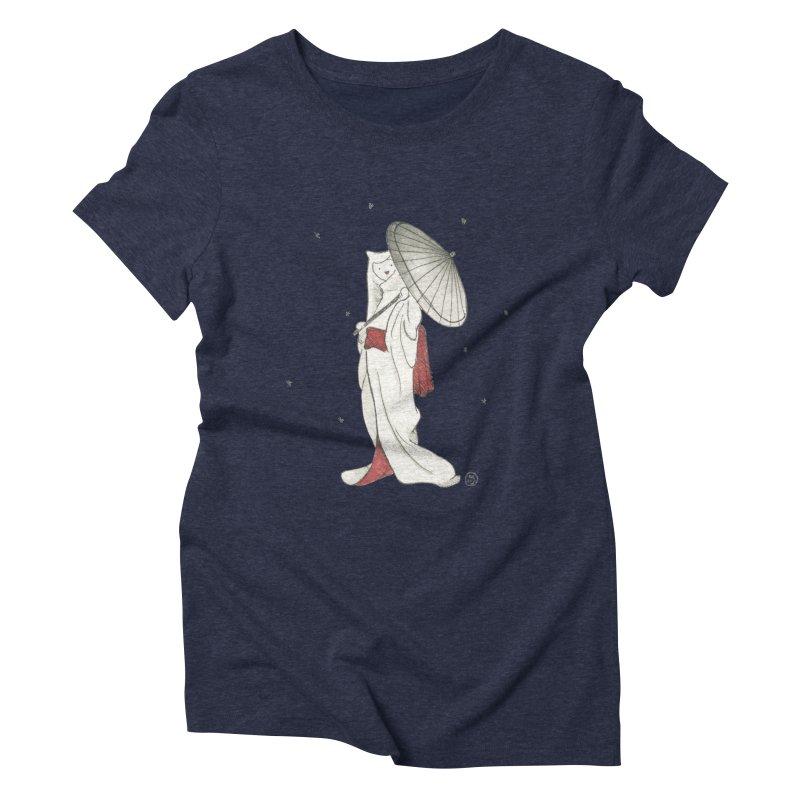 Yuki Hime  Women's Triblend T-Shirt by Stephanie Inagaki