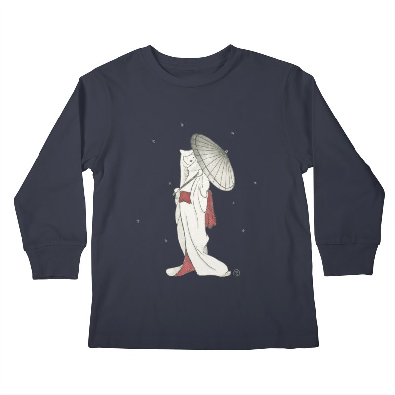 Yuki Hime  Kids Longsleeve T-Shirt by Stephanie Inagaki