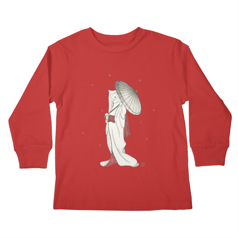 Yuki Hime  Kids Longsleeve T-Shirt by Stephanie Inagaki