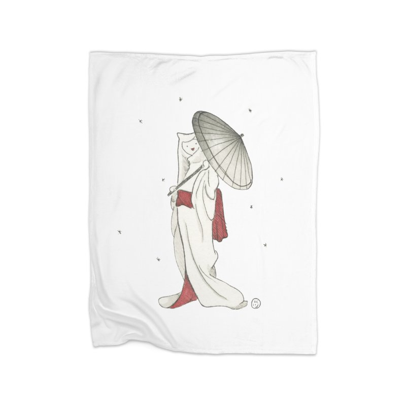 Yuki Hime  Home Fleece Blanket Blanket by Stephanie Inagaki