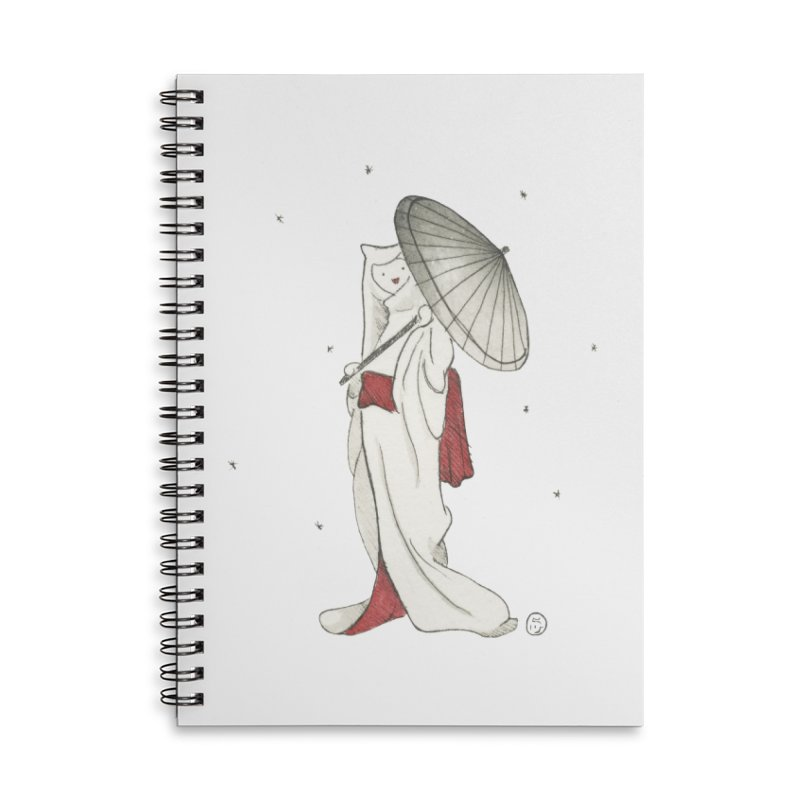 Yuki Hime  Accessories Lined Spiral Notebook by Stephanie Inagaki