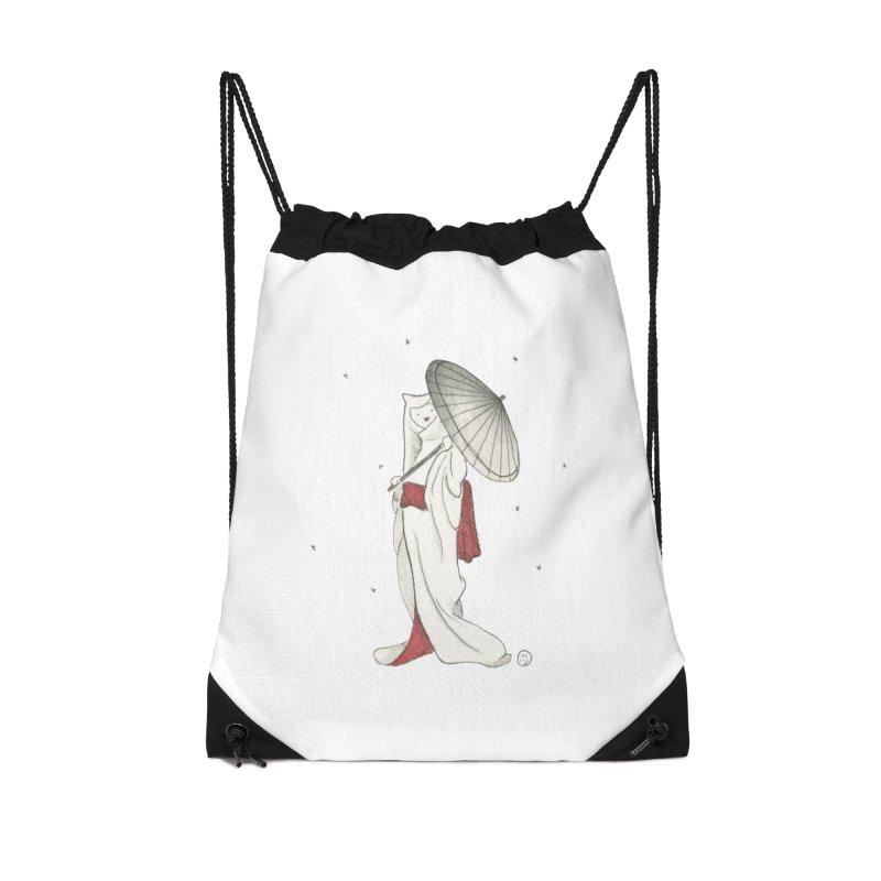 Yuki Hime  Accessories Drawstring Bag Bag by Stephanie Inagaki