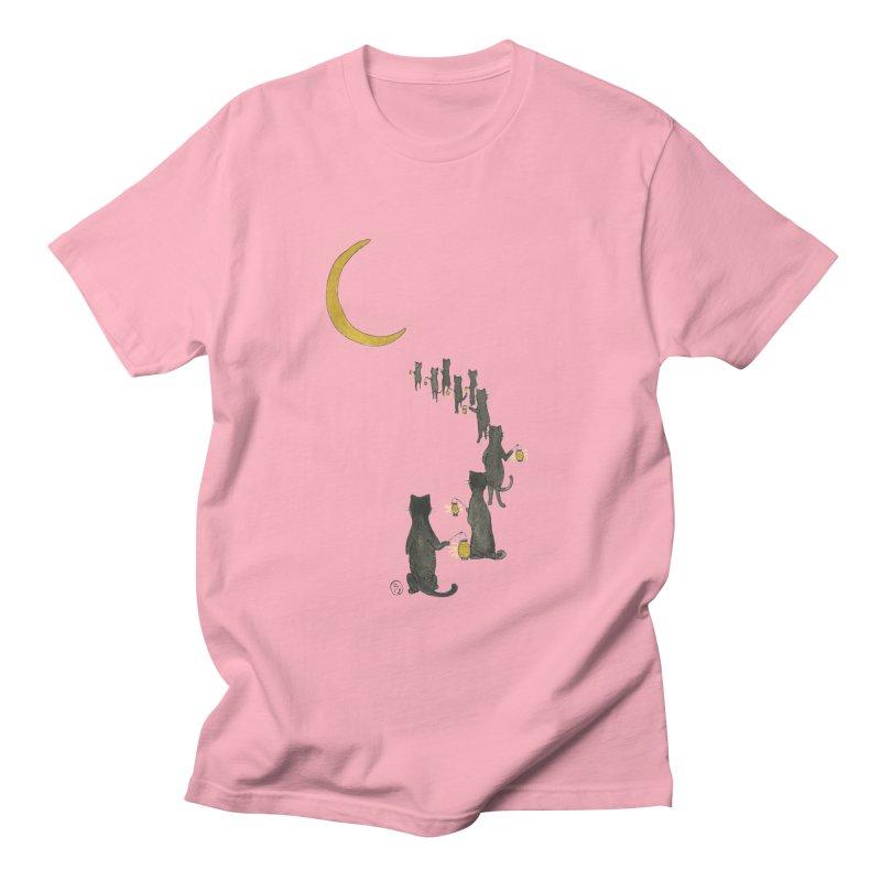 Neko Night Procession  Women's Regular Unisex T-Shirt by Stephanie Inagaki