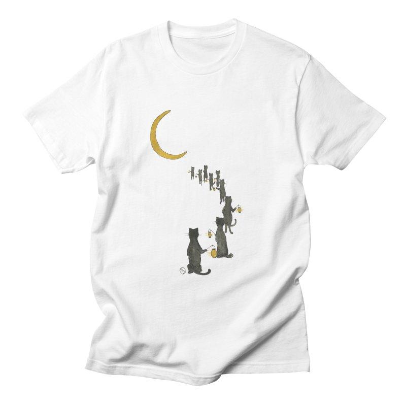 Neko Night Procession  Women's Regular Unisex T-Shirt by stephanieinagaki's Artist Shop