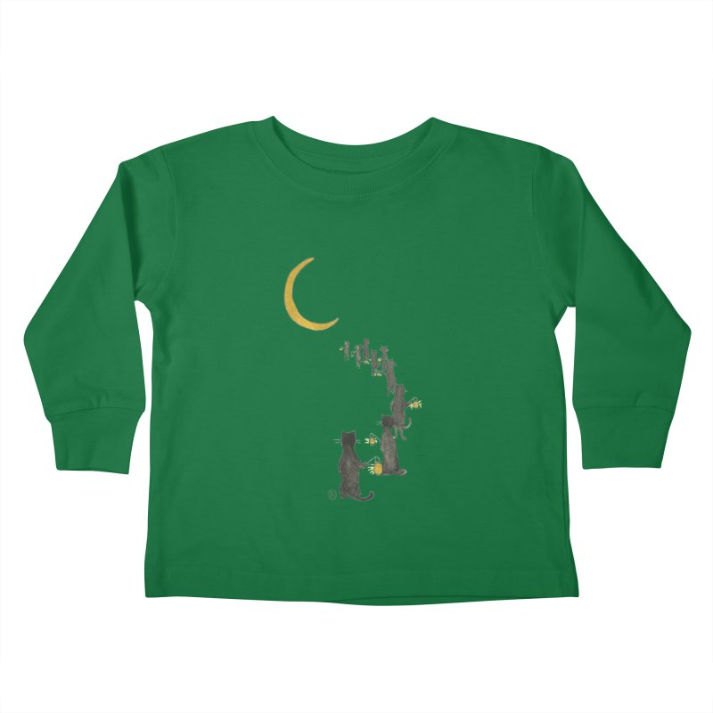 Neko Night Procession  Kids Toddler Longsleeve T-Shirt by stephanieinagaki's Artist Shop