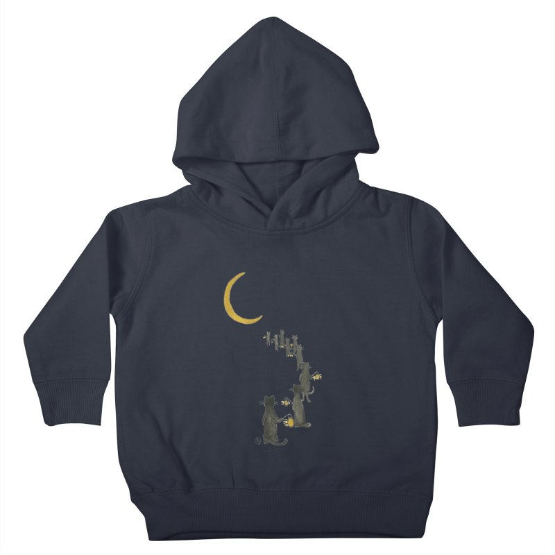 Neko Night Procession  Kids Toddler Pullover Hoody by Stephanie Inagaki
