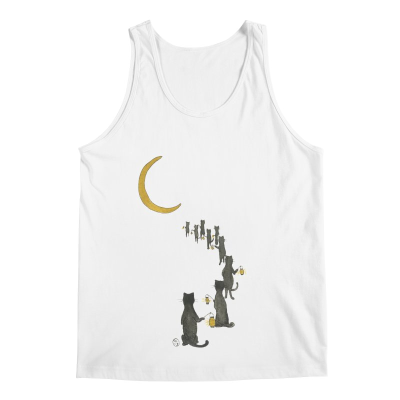 Neko Night Procession  Men's Regular Tank by Stephanie Inagaki