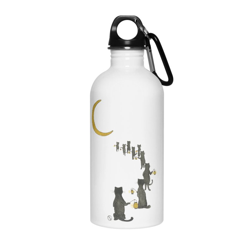 Neko Night Procession  Accessories Water Bottle by Stephanie Inagaki