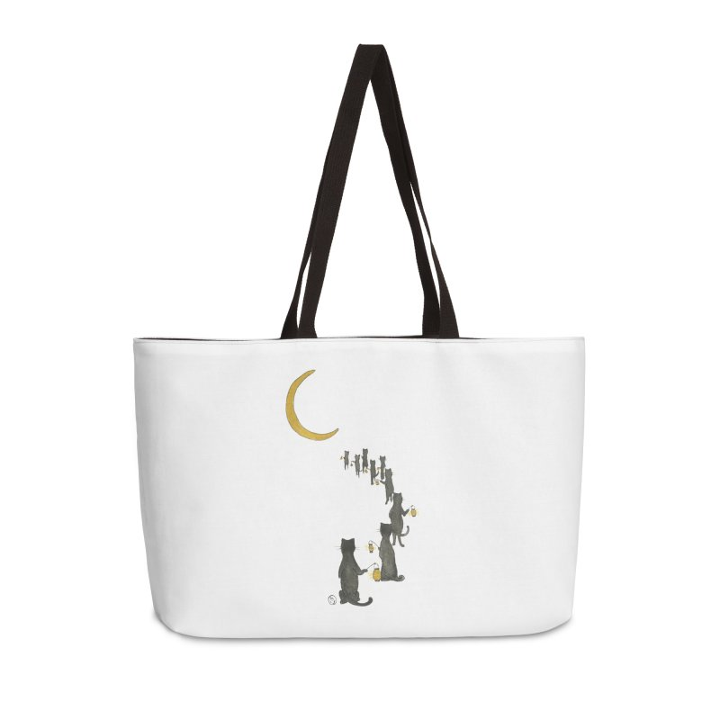 Neko Night Procession  Accessories Weekender Bag Bag by Stephanie Inagaki