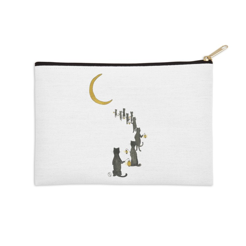 Neko Night Procession  Accessories Zip Pouch by Stephanie Inagaki