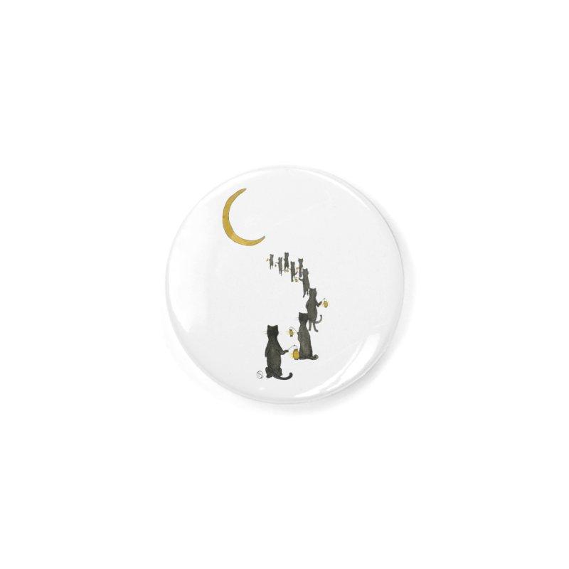 Neko Night Procession  Accessories Button by Stephanie Inagaki