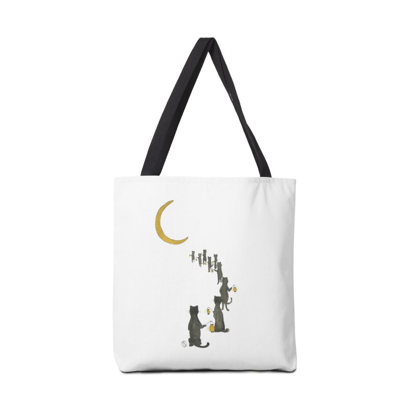 Neko Night Procession  Accessories Tote Bag Bag by Stephanie Inagaki