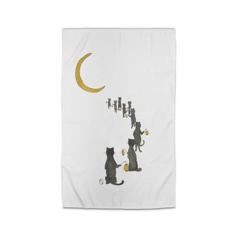 Neko Night Procession  Home Rug by Stephanie Inagaki