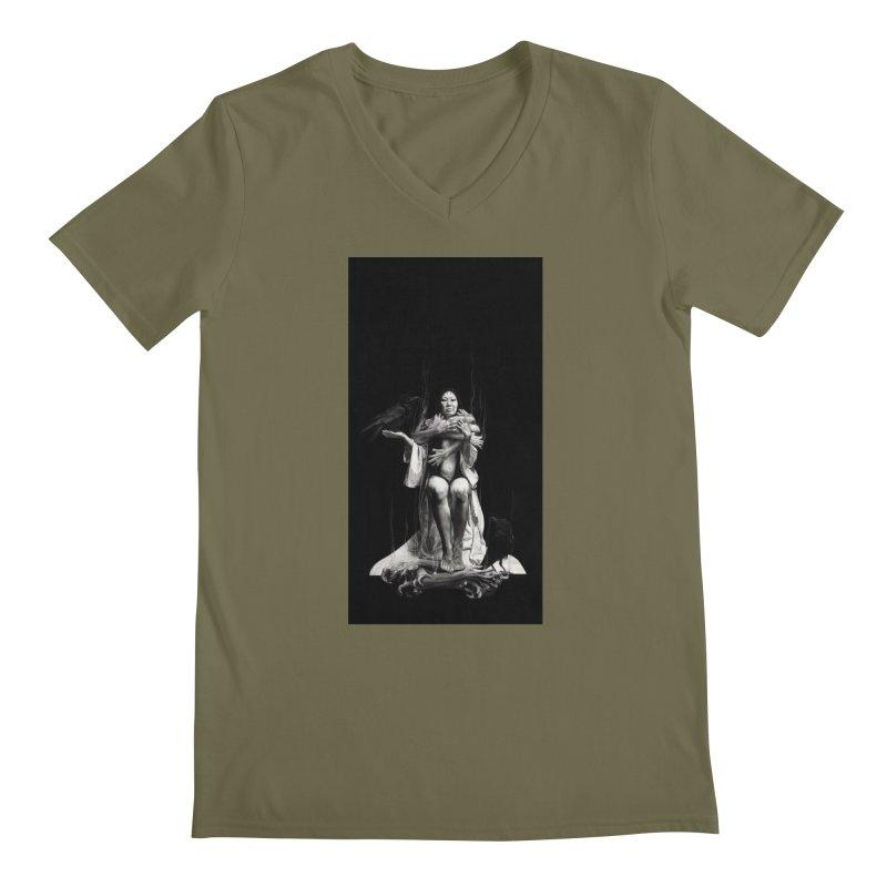 The Exorcism of Disembodied Souls Men's Regular V-Neck by Stephanie Inagaki