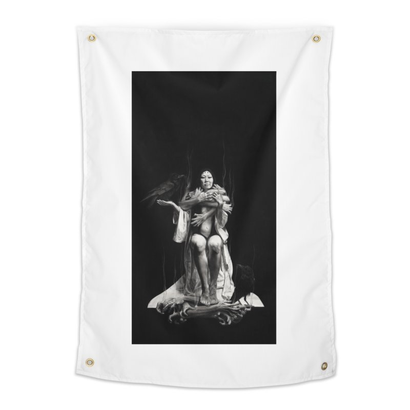 The Exorcism of Disembodied Souls Home Tapestry by Stephanie Inagaki