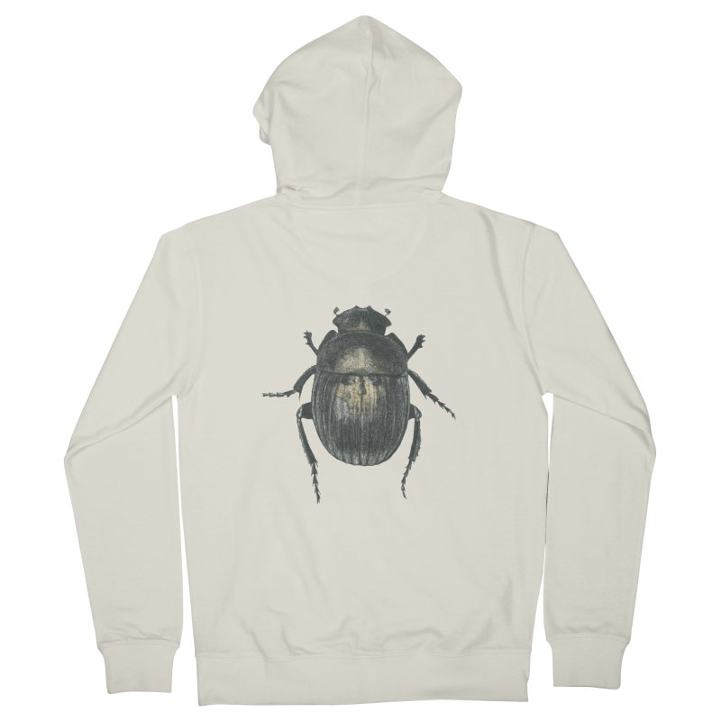 Death Scarab Men's French Terry Zip-Up Hoody by Stephanie Inagaki