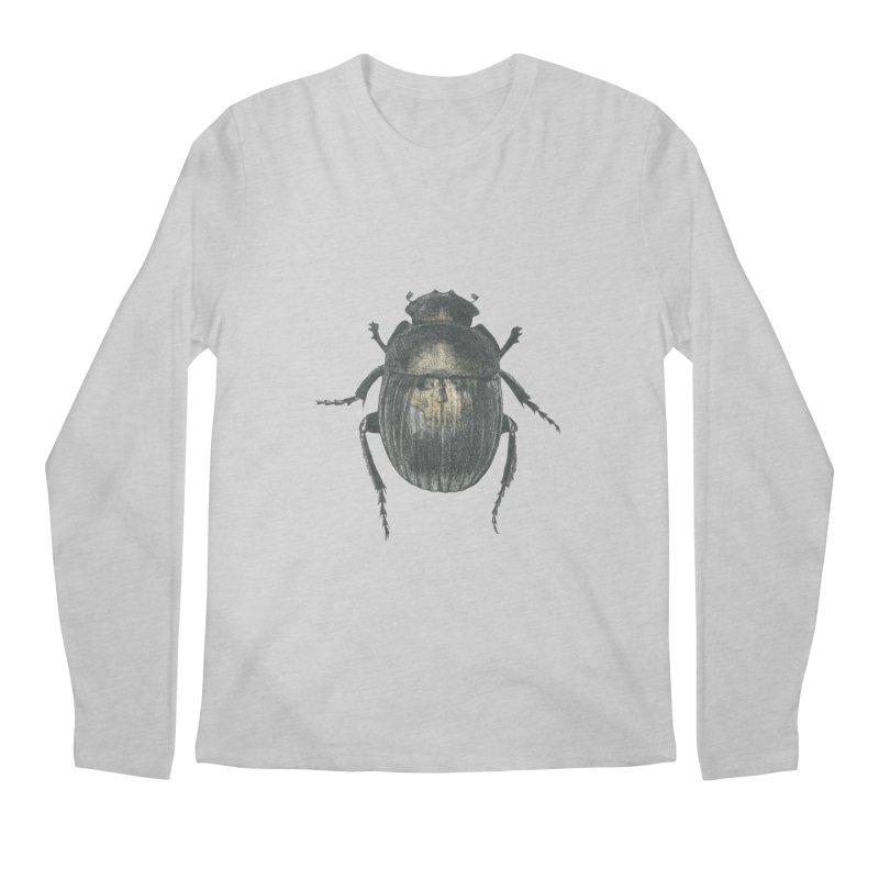 Death Scarab Men's Regular Longsleeve T-Shirt by Stephanie Inagaki
