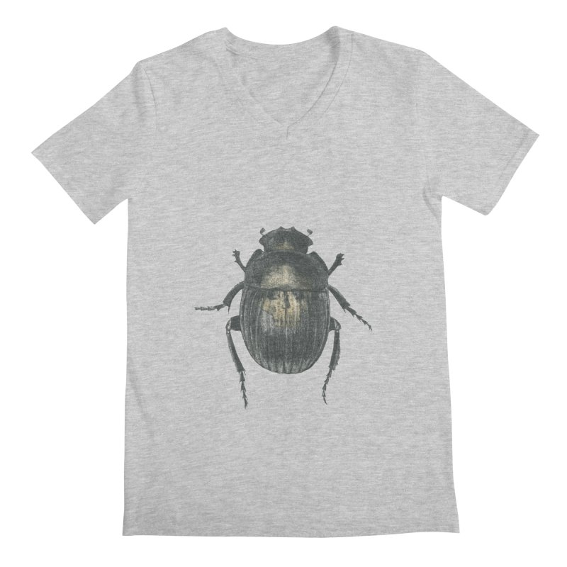Death Scarab Men's Regular V-Neck by Stephanie Inagaki