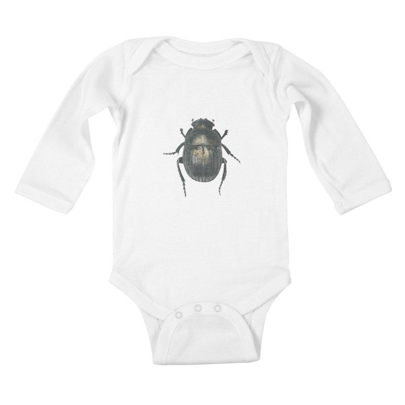 Death Scarab Kids Baby Longsleeve Bodysuit by stephanieinagaki's Artist Shop