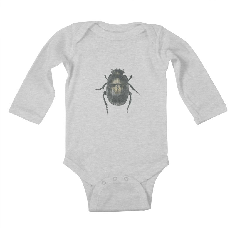 Death Scarab Kids Baby Longsleeve Bodysuit by Stephanie Inagaki