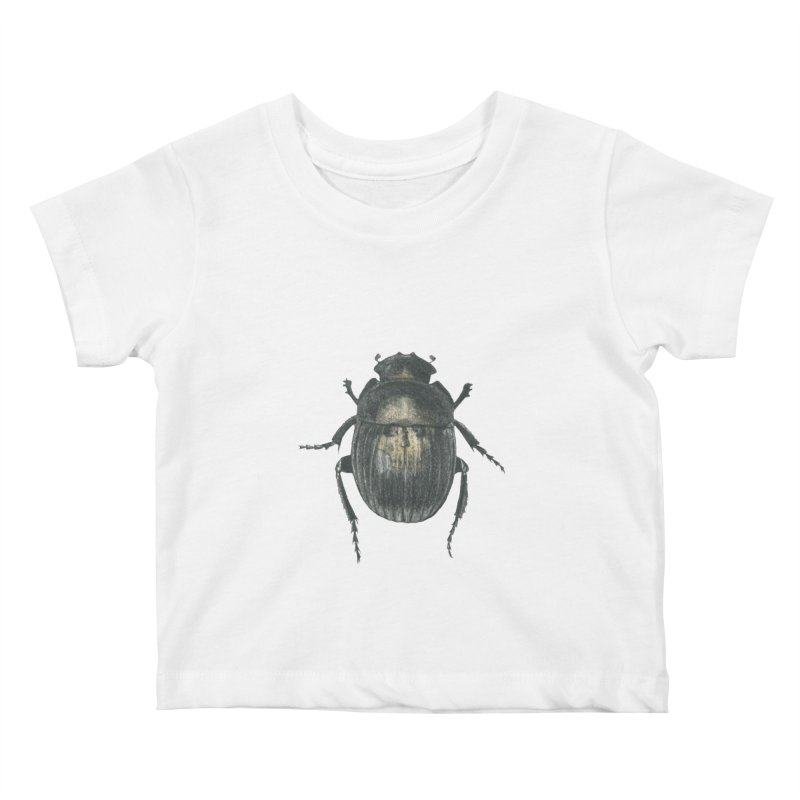 Death Scarab Kids Baby T-Shirt by Stephanie Inagaki