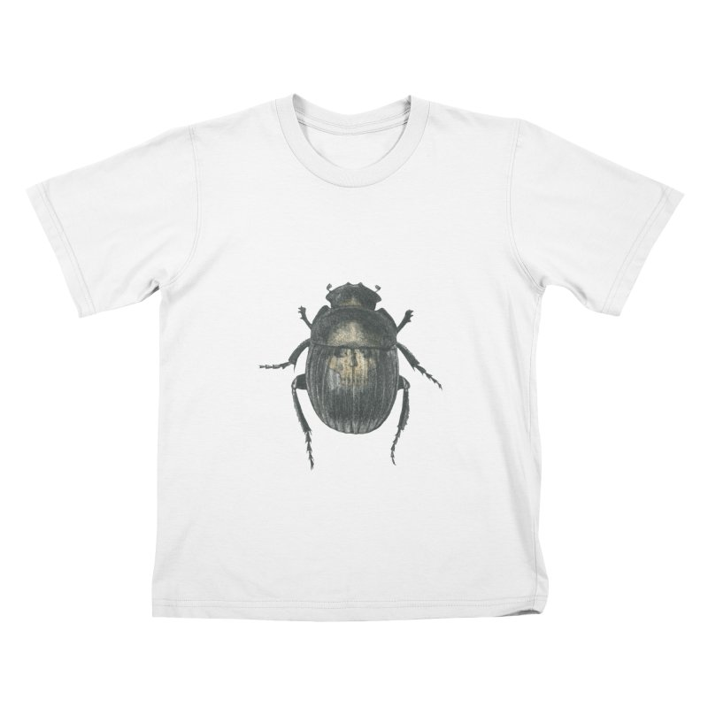 Death Scarab Kids T-Shirt by Stephanie Inagaki