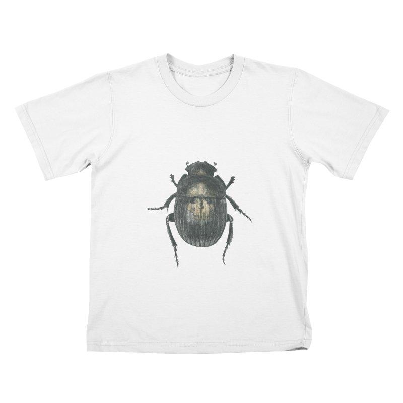 Death Scarab Kids T-Shirt by Stephanie Inagaki