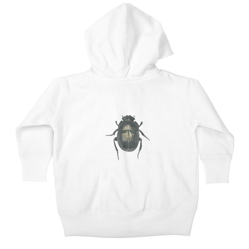 Death Scarab Kids Baby Zip-Up Hoody by Stephanie Inagaki