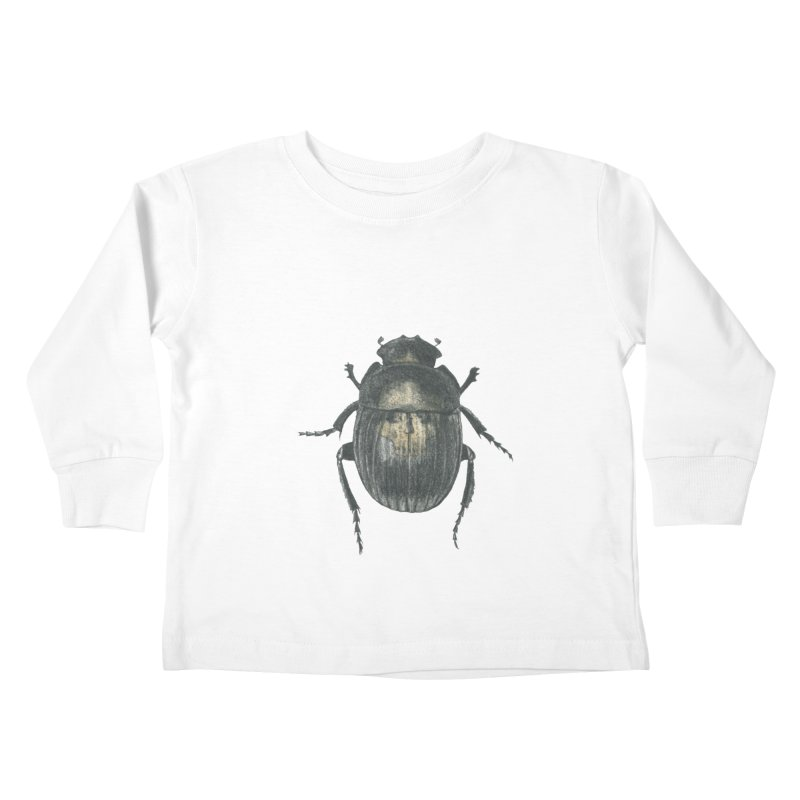 Death Scarab Kids Toddler Longsleeve T-Shirt by Stephanie Inagaki