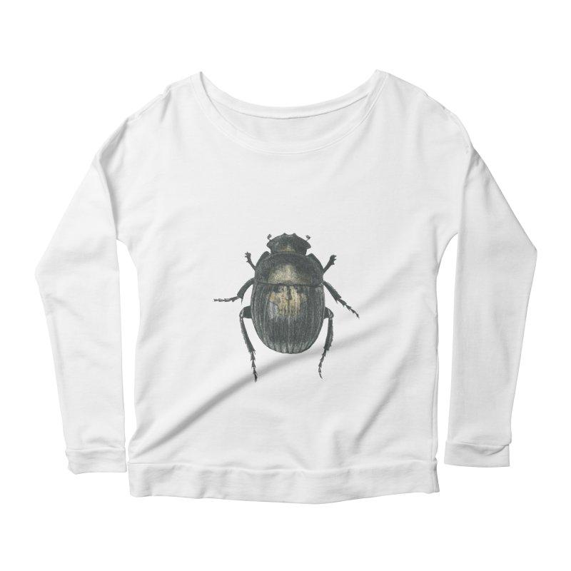 Death Scarab Women's Scoop Neck Longsleeve T-Shirt by Stephanie Inagaki