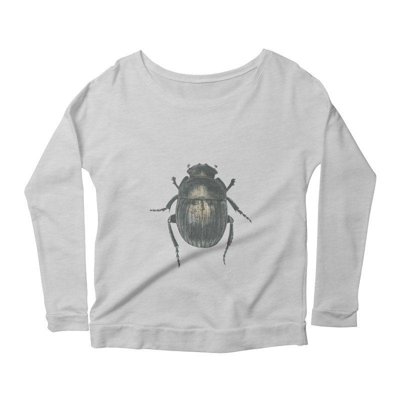 Death Scarab Women's Scoop Neck Longsleeve T-Shirt by Stephanie Inagaki