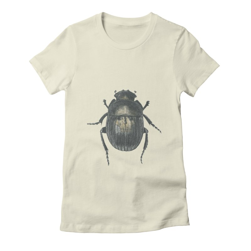 Death Scarab Women's Fitted T-Shirt by Stephanie Inagaki