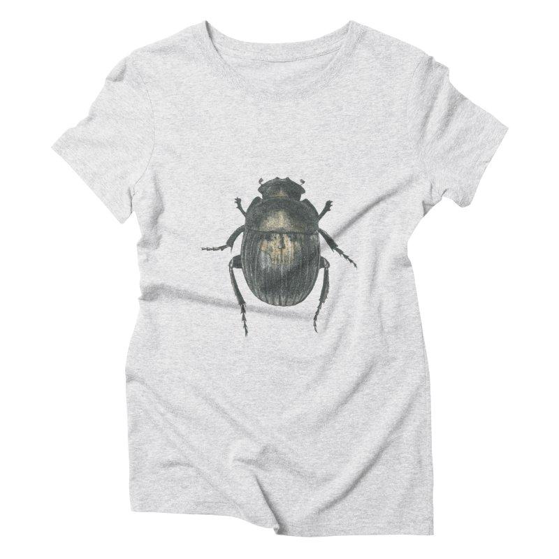 Death Scarab Women's Triblend T-Shirt by Stephanie Inagaki