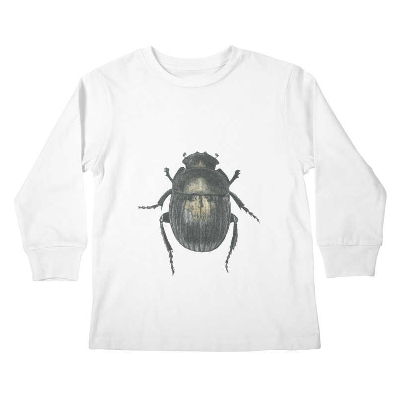 Death Scarab Kids Longsleeve T-Shirt by Stephanie Inagaki