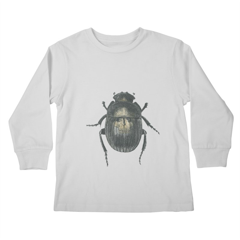 Death Scarab Kids Longsleeve T-Shirt by stephanieinagaki's Artist Shop