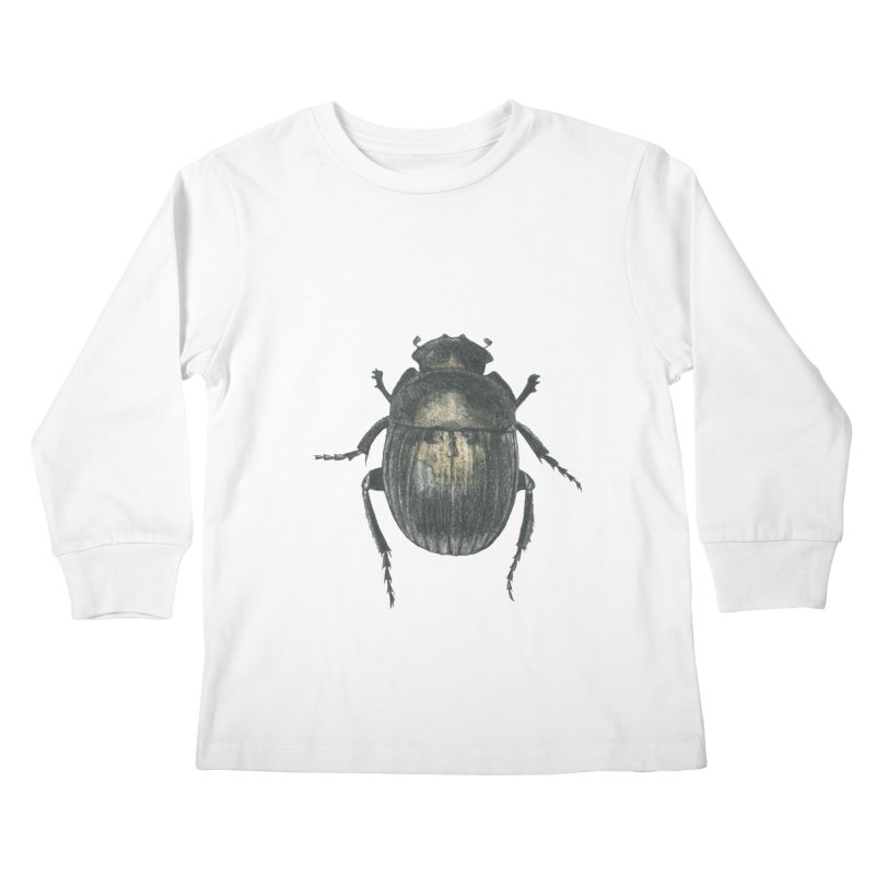Death Scarab Kids Longsleeve T-Shirt by Stephanie Inagaki