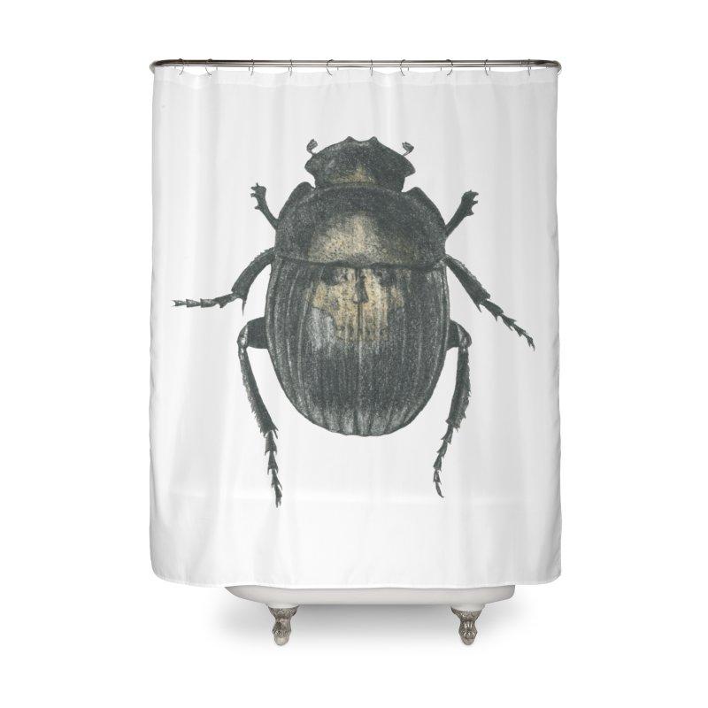 Death Scarab Home Shower Curtain by Stephanie Inagaki