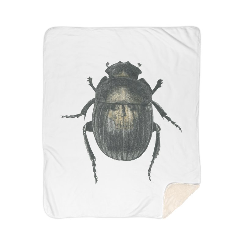Death Scarab Home Sherpa Blanket Blanket by Stephanie Inagaki