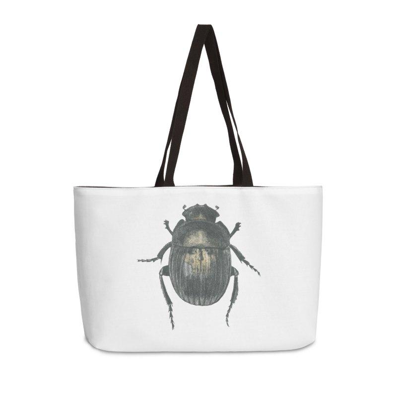 Death Scarab Accessories Weekender Bag Bag by Stephanie Inagaki