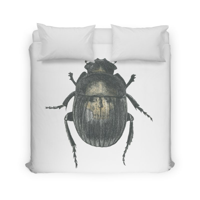 Death Scarab Home Duvet by Stephanie Inagaki