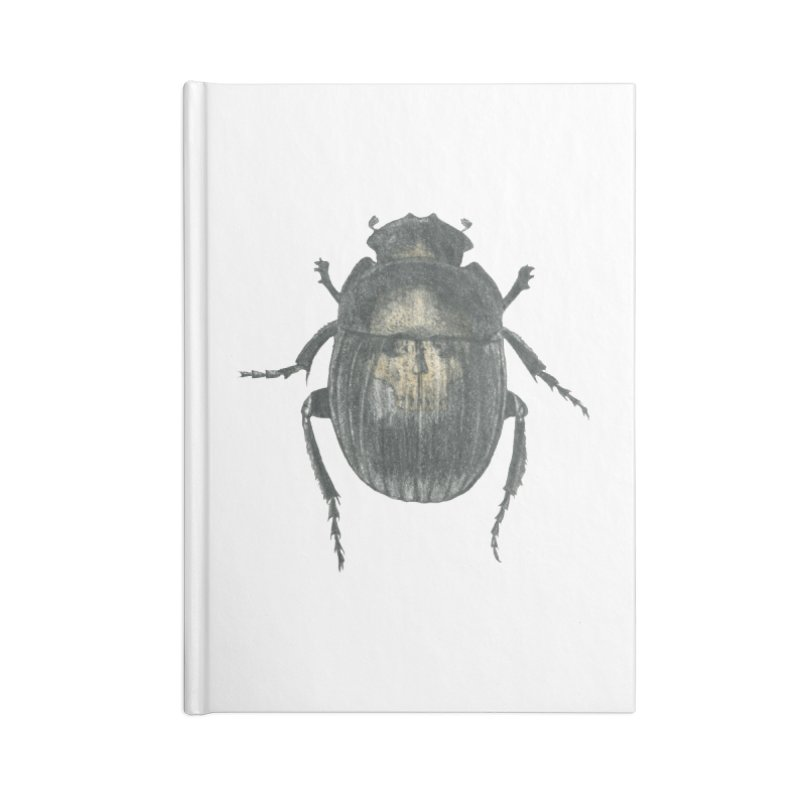 Death Scarab Accessories Lined Journal Notebook by Stephanie Inagaki